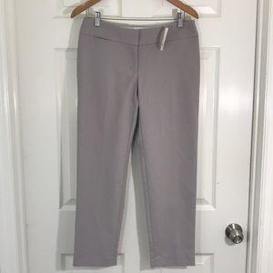 NWT Loft Grey Marisa Ankle Pants SiZe 4